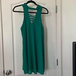 Speechless High Collar Dress